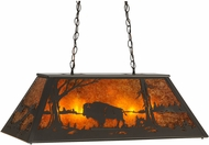 Meyda Tiffany 150711 Buffalo at Lake Country Timeless Bronze / Amber Mica Kitchen Island Light