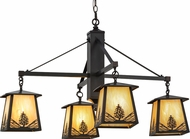 Meyda Tiffany 150783 Mountain Pine Country Bai Craftsman Ceiling Chandelier