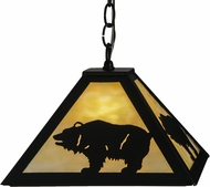 Meyda Tiffany 150870 Lone Bear Country Black / Ba Drop Ceiling Lighting