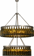 Meyda Tiffany 150900 Tuscan Vineyard Estate Modern Clear Coated Raw Steel Hanging Chandelier