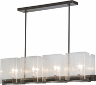 Meyda Tiffany 151139 Ice Cube Modern Timeless Bronze / Clear Seedy Island Light Fixture