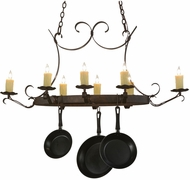 Meyda Tiffany 151157 Handforged Oval Island Lighting Pot Rack