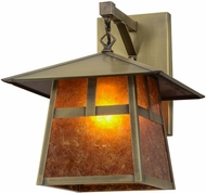 Meyda Tiffany 151578 Stillwater  T  Mission Craftsman Amber Mica Antique Lamp Sconce