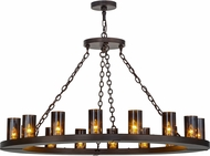 Meyda Tiffany 151695 Loxley Modern Mahogany Bronze Chandelier Light