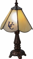 Meyda Tiffany 151697 Utica College Custom Logo Tiffany Mahogany Bronze Table Light