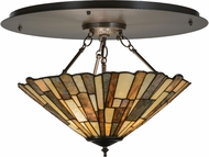 Meyda Tiffany 151905 Delta Jadestone Tiffany Timeless Bronze Home Ceiling Lighting