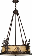 Meyda Tiffany 151920 Alpine Country Mahogany Bronze / Carmel Onyx Hanging Light Fixture