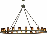 Meyda Tiffany 152068 Loxley Modern Tarnished Copper Chandelier Lighting