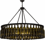 Meyda Tiffany 152072 Tuscan Vineyard Estate Modern Black Lighting Chandelier
