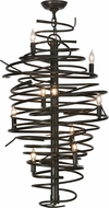 Meyda Tiffany 152135 Cyclone Modern Timeless Bronze Hanging Chandelier