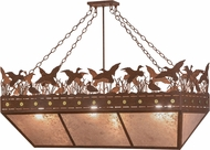 Meyda Tiffany 152292 Ducks in Flight Country Rust / Silver Mica Kitchen Island Light
