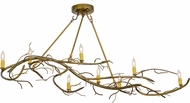 Meyda Tiffany 152375 Winter Solstice Country Gold Kitchen Island Light Fixture