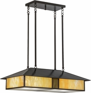Meyda Tiffany 152601 Double Bar Mission Contemporary Bai Craftsman Kitchen Island Lighting