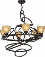 Meyda Tiffany 152738 Anneau Contemporary Timeless Bronze Chandelier Lighting