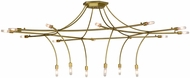Meyda Tiffany 152800 ISON Contemporary Natural Brass Chandelier Lamp