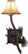 Meyda Tiffany 152830 Lone Pine Mahogany Bronze Wall Light Sconce
