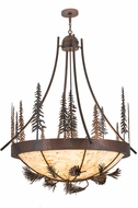 Meyda Tiffany 152868 Tall Pines Wrt Iron Over China Mhbrz Drop Lighting