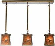 Meyda Tiffany 15288 Ducks in Flight Rustic Antique Copper / Amber Mica Multi Pendant Light