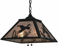 Meyda Tiffany 152902 Rustic Black / Silver Mica Ceiling Light Pendant