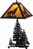 Meyda Tiffany 152949 Howling Wolf Country Oil Rubbed Bronze / Ha Lighting Table Lamp