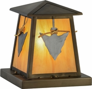 Meyda Tiffany 153053 Arrowhead Rustic Antique Copper / New Mica Acrylic Outdoor Pier Mount
