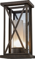 Meyda Tiffany 153261 Mirror Cross Gilded Tobacco Lamp Sconce
