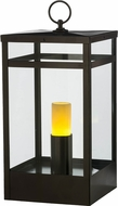 Meyda Tiffany 153354 Quadrato Campbell Oil Rubbed Bronze / Clear Glass Outdoor Pier Mount