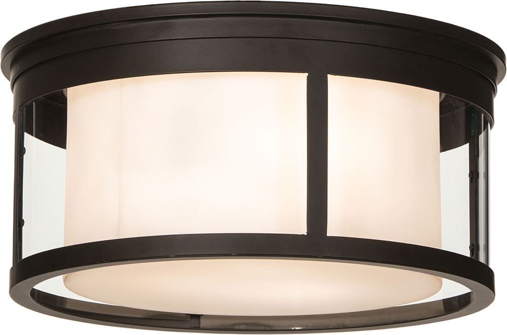 Meyda Tiffany 153386 Cilindro Campbell Oil Rubbed Bronze Flush Mount  Lighting Fixture. Loading zoom