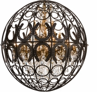 Meyda Tiffany 153398 Equestriana Oil Rubbed Bronze Chandelier Lamp