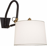 Meyda Tiffany 153400 Stuyvesant Black / Satin Brass Accents Wall Lighting Fixture