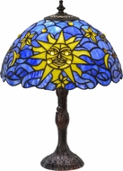 Meyda Tiffany 153615 Sun, Moon & Stars Tiffany Vadk Ia Yellow Side Table Lamp
