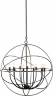 Meyda Tiffany 154128 Atomic Energy Modern Inside Solar Black Outside Nickel Chandelier Lighting