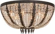 Meyda Tiffany 154797 Chrisanne Crystal Chestnut Flush Mount Light Fixture