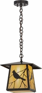 Meyda Tiffany 155152 Stillwater Song Bird Rustic Bai / Craftman Brown With Bottom Difuser Drop Lighting