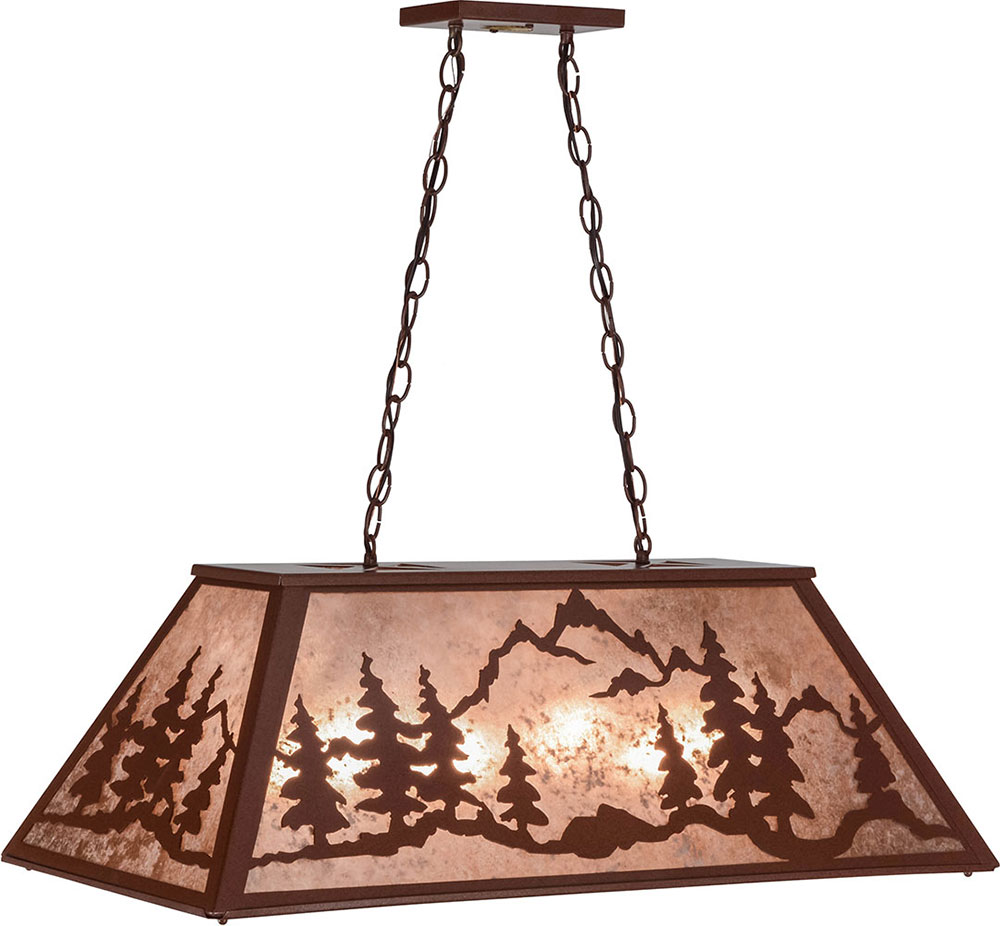 Tiffany Kitchen Lighting Meyda Tiffany 155300 Mountain Range Country Rust Silver Mica