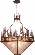 Meyda Tiffany 155414 Wildlife at Pine Lake Rustic Rust / Silver Mica Pendant Lighting