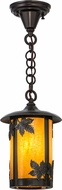 Meyda Tiffany 156653 Fulton Maple Leaf Country Ha Craftsman Mini Pendant Lamp