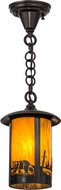 Meyda Tiffany 156668 Fulton Bear Creek Country Ha Craftsman Mini Hanging Light