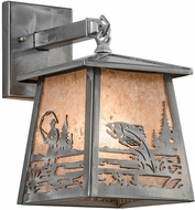 Meyda Tiffany 15684 Fly Fishing Creek Steel / Silver Mica Wall Sconce