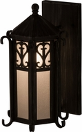 Meyda Tiffany 157313 Caprice Lantern Antique Iron Gate / Clear Seedy Glass Sb Out Wall Sconce Lighting