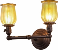 Meyda Tiffany 157498 Revival Chelsea Favrile Mahogany Bronze Wall Light Sconce