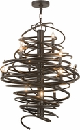 Meyda Tiffany 157562 Cyclone Modern Timeless Bronze Chandelier Light