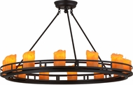 Meyda Tiffany 157813 Barbury Contemporary Black Chandelier Lamp