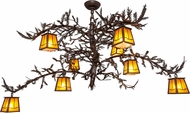 Meyda Tiffany 158067 Pine Branch Valley View Country Cafe Noir / Has Halogen Lighting Chandelier