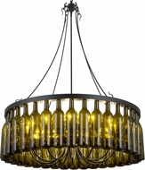 Meyda Tiffany 158134 Tuscan Vineyard Estate Contemporary Black Ceiling Chandelier