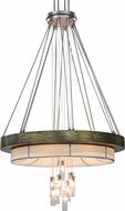 Meyda Tiffany 158292 Cilindro Ventura Modern Pewter / X-Chrome / A/C Chandelier Light