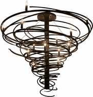 Meyda Tiffany 158869 Cyclone Contemporary Timeless Bronze Lighting Chandelier