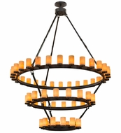 Meyda Tiffany 158994 Noziroh Ring Modern Black Chandelier Lamp