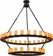 Meyda Tiffany 158995 Noziroh Ring Contemporary Black Chandelier Light