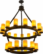 Meyda Tiffany 159006 Noziroh Ring Modern Black Ceiling Chandelier